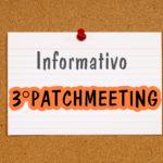 INFORMATIVO – 3º Patchmeeting